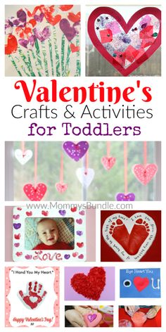 The BEST Valentines crafts and activities for toddlers. Here you'll find easy play ideas and art for little kids to make on Valentine's Day! day crafts Fun Valentine's Crafts & Activities for Toddlers Toddler Valentine Crafts, Kinder Valentines, Valentines Day Activities, Funny Valentine, Baby Crafts, Fun Crafts, February Toddler Crafts, Valentines Day Gifts For Toddler Boy, Valentines Ideas For Babies