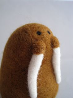 Walrus  Needle Felted Wool Sculpture by Woolnimals (Abby Emerson) on Etsy
