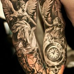 The Angel Has Come To Save Forearm Tattoo