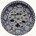 Blue And White 'Lotus Pond' Foliate Rim Charger. Yuan Dynasty (1279-1368). National Museum of Iran.