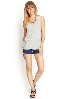 Heathered Surplice Tank Top | FOREVER21 #F21Contemporary #OOTD #day07