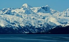 """Snow-capped mountains seen while on an Alaska cruise."" (From: 32 Spectacular Photos of Winter Wonderlands)"