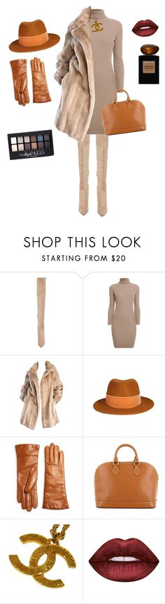"""""""ColdTime"""" by sisley01 ❤ liked on Polyvore featuring Kendall + Kylie, Rumour London, Lilli Ann, Ruban, Saks Fifth Avenue Collection, Louis Vuitton, Chanel, Maybelline, Lime Crime and Giorgio Armani"""