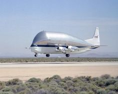 Super Guppy Lifts Off the Runway at Edwards Air Force Base
