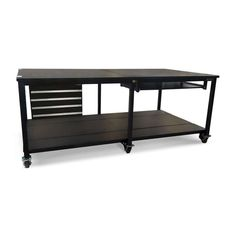 Planner Heavy Duty Work Bench #industrialfurniture #industrial #desks #industrialworkbench #workbenchwithstorage