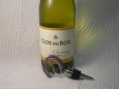 Beaded Wine Stopper Amethyst Swarovski Crystal by GagaGems on Etsy, $15.00