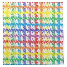 Rainbow Scratch Cloth Napkins Napkins #zazzle #napkins #cloth #rainbow #scratch