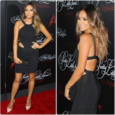 Shay Mitchell at the PLL 100th episode celebration party #ombre #lbd