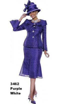 Purple Church Suit 3462 By Susanna