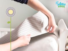 The Lullaby Earth Breeze Breathable Crib Mattress Pad allows you to turn any mattress into a breathable mattress. #BreathabilityDoneRight