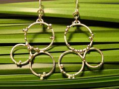 Sterling Silver Handmade EarringsGarden City by BrimstoneStudioATL, $35.00