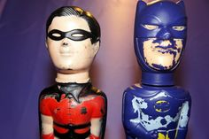 VINTAGE 1966 BATMAN & ROBIN  SOAKY ADAM WEST 1966  Figure TV Series Bath
