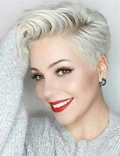 We have collected for you some easy funky hairstyles for short hair. Short hair ladies can try these hairstyles and get an extraordinary special look. Snap here. Funky Short Hair, Short Hair Cuts For Women, Short Pixie Haircuts, Hairstyles Haircuts, Short Funky Hairstyles, Funky Haircuts, Great Hair, Silver Hair, Hair Inspiration