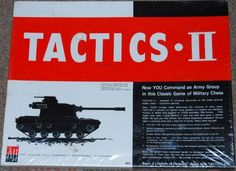 Tactics 11 Board Game by Avalon Hill (1961) Sealed - Vintage ...