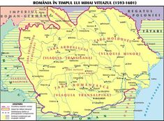 Romania, during the rule of Michael the Brave / Romania in timpul domniei lui Mihai Viteazul History Page, History Facts, World History, Family History, Romania Map, Sea Peoples, 27 Mai, Visual Map, My Ancestors