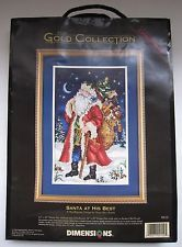 Dimensions Gold Collection Needlepoint Kit Christmas Picture Santa Holiday 9112