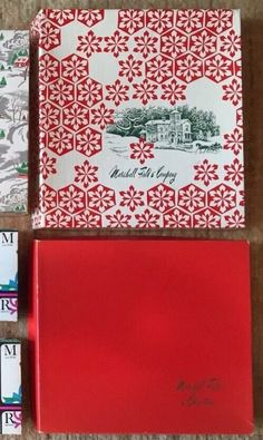 Vintage Marshall Fields Christmas Holiday Boxes