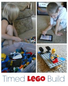 Timed Lego Build - Tips and Prompts for building play!
