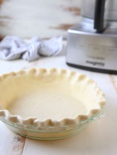 How to Make Pie Crust in a Food Processor - Completely Delicious - - Pie crust made simpler with the help of a food processor! Easy Pie Crust, Homemade Pie Crusts, Pie Crust Recipes, Pie Crust Recipe With Margarine, Amish Pie Crust Recipe, Easy Drawing Tutorial, Food Processor Pie Crust, Food Processor Recipes, Deserts