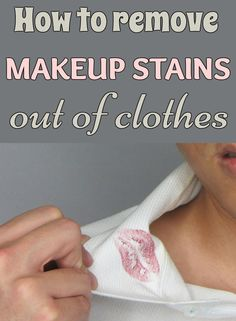 How to remove makeup stains out of clothes - Cleaning-Ideas.com