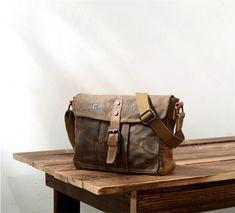 canvas crossbody messenger bag waxed canvas messenger bag (1)