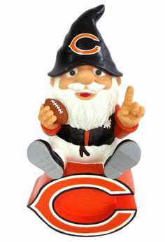 Amazon.com: NFL Chicago Bears Gnome Sitting On Logo: Sports & Outdoors