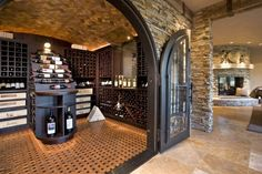 who needs a basement when you can have a wine cellar!