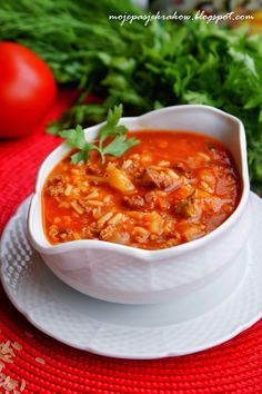 zupa gołąbkowa Soup Recipes, Cooking Recipes, Recipies, European Dishes, Cabbage Roll Soup, Polish Recipes, Polish Food, Soups And Stews, Soul Food