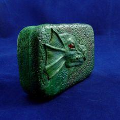 Green Dragon Tin - Altered Art Altoid Tin