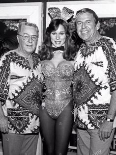 George Gobel and Paul LYNDE with Playboy Bunny Patti McGuire