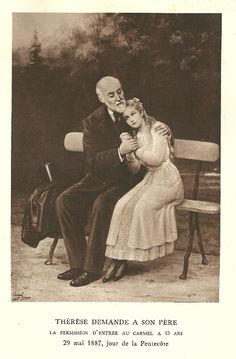 Therese with her father Louis