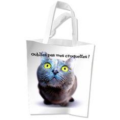 Sac à courses chat collection chat furby à texte