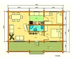 Plano 1 Casa de Madera Elly