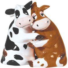 Mwah! Cows Hugging Salt and Pepper Shakers $11.69