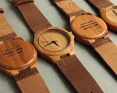 Treehut Wooden Watch // Diamond Small - Leather Straps