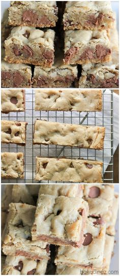 Chewy Chocolate Chip Cookie Bars - these are a must make! It will become your go to cookie bar recipe. | Baked in Arizona