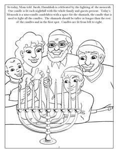 chanukah story coloring pages | 138 Best Hanukkah Coloring Pages images | Hanukkah ...