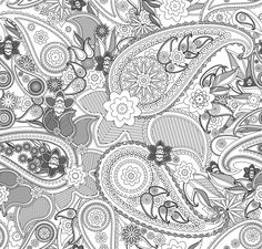 Another image from Paisley Coloring Book Volume 1 - Very intricate.