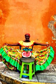 Colombian Palenquera living arts