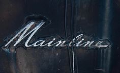 Mainline Instant Digital Download - Antique  Car Emblem - Black Paint Patina - Broken Wires - Rusty Metal - Canadian Photography - Old Cars by AngelBeachBathArt on Etsy