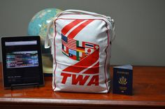 $39.90 ✿ bluefolkhome on etsy ✿ TWA Travel Bag Flight Bag Still in Original Packaging New Old Stock 6 Left - Airline Bag Tote Bag Flight Bag   Ultra Cool - I Ship Worldwide