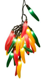 Chili Pepper Cluster Light Set, 35 Multicolored Lights - Cinco de Mayo party decoration ideas