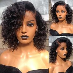 online shopping for Hot Beauty Hair Curly Human Hair Short Wig Lace Front Wigs Bob Wig Black Women 150 Density from top store. See new offer for Hot Beauty Hair Curly Human Hair Short Wig Lace Front Wigs Bob Wig Black Women 150 Density Curly Bob Wigs, Short Wigs, Curly Bob Hairstyles, Curly Hair Styles, Natural Hair Styles, Curly Short, Deep Curly, Short Afro, Short Haircuts
