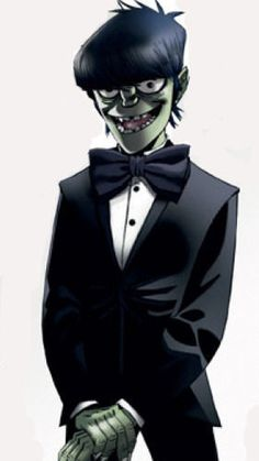 Jamie Hewlett - Murdoch [Gorillaz] - i love Mudz in a suit. Murdoc Gorillaz, Gorillaz Art, Jamie Hewlett Art, Sunshine In A Bag, Russel Hobbs, Bd Comics, Comic Book Artists, Music Artists, You Draw
