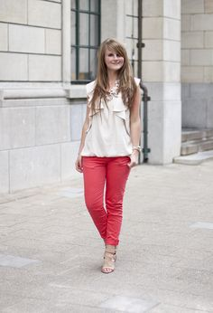 River Island Shirt / Blouses, Zara Pants and River Island Heels / Wedges