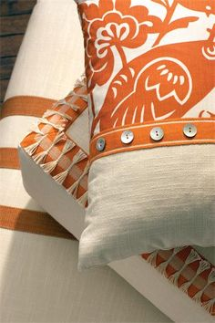 Tassels, Tapes Trimmings | Designer Trim | Fine Trim | Duralee on pillows.