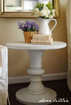 A Painted Side Table by Dear Lillie (revere pewter)