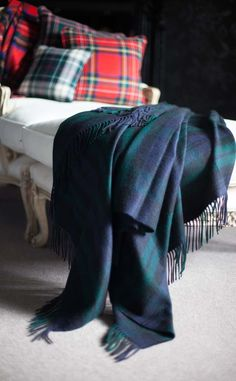 tartan throw & cushions
