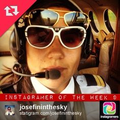 #IgersGdansk Instagramer of the Week 09. This week the title goes to @josefininthesky - swedish pilot flying to #Gdansk from time to time. Congratulations (w: Gdańsk Lech Wałęsa Airport (GDN) @Airport Gdansk #Instagram #Poland #Sweden