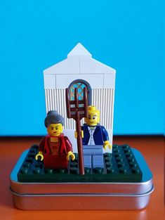 American Gothic LEGO On-the-Go Play Set  Artful Play to by kittd